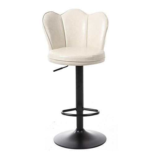 360 ° rotierende High Hocker PU Leder Counter Height Bar ools Deep Seat Adjustable Bar Stool Chairs für Cafe Bar Restaurant,White