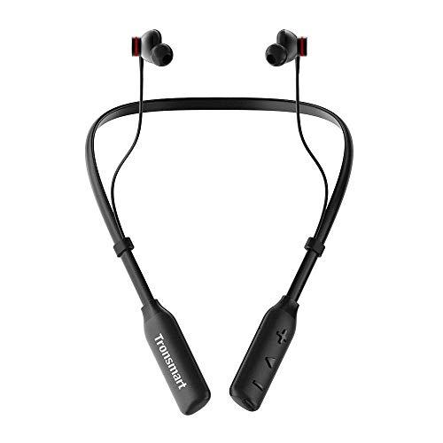 Tronsmart Bluetooth Kopfhörer Nackenbügel im Ohr Magnetisch Headset, mit 24 Stunden Spielzeit, Geräuschunterdrückung, Sweat-Proof IPX45, Reichhaltiger Bass, Mikrofon, Federleicht für iPhone Android