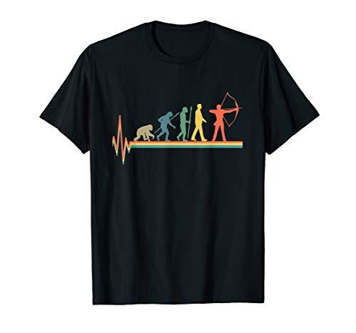 Bogenschütze Evolution T-Shirt - Bogenschießen Retro TShirt - Tolles Retro-t-shirt