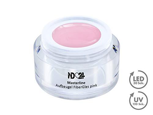 15ML - PREMIUM FIBERGLAS AufbauGEL pink - ULTRA STRONG - dünner Auftrag STANDFEST - UV Gel NagelGel - MASTERLINE Studio-Qualität - MADE IN GERMANY