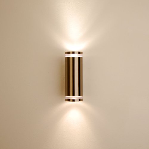 s`luce Steel 2.5 Wandlampe 2x9W, Edelstahl KH165A-2 - 6
