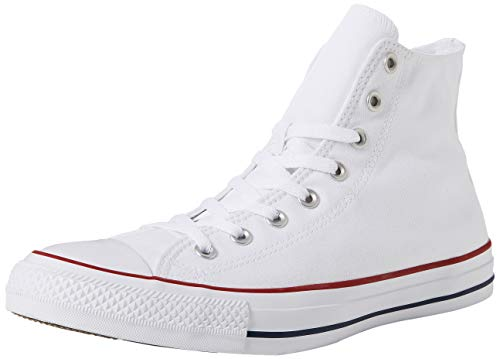 ee89c908 Converse Unisex-Adult Chuck Taylor All Star Hi-Top Trainers, White (Optical