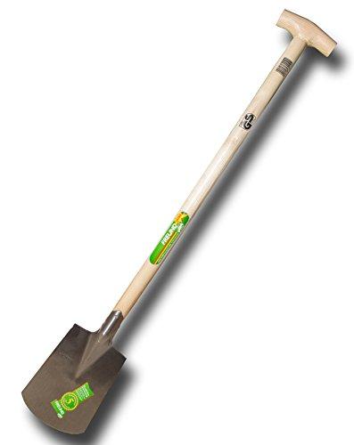 FREUND 69210 Damenspaten 24,2x18cm mit Eschen-T-Stiel 85cm, ohne Tritt (LP22/2)