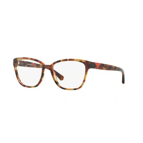 Giorgio Armani Damen 0EA 3094 5541 52 Sonnenbrille, Braun (Havana Spot Raspberry)
