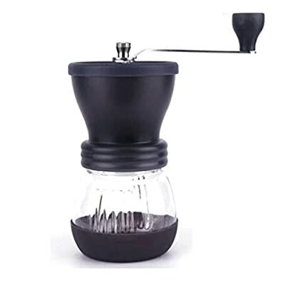 Manual Coffee Grinder - Kingwo Moka Coffee Maker Ceramic Coffee Mill High Quality Burr Coffee Grinde Coffee Machine With Grinder For Espresso Black by Kingwo