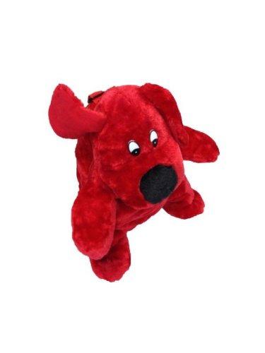 Kostüme Sport Hund (Deluxe Kinderrucksack Hunde Rucksack rot Plüsch 30 cm Hunderucksack roter Hund Kind für Kinder Träger)