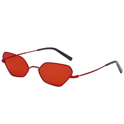 Sonnenbrillen für Männer und Frauen Rot Zolimx Mode Mann Frauen unregelmäßige Form Sonnenbrille Brille Vintage Retro Stil
