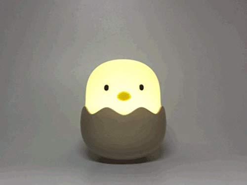 XINXIN Neue kreative Emotion Zuhaltung Eischale Nacht Silikon Fütterung Küken urinieren Nachttischlampe leuchtet,Gelb,0566 -