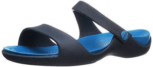 Crocs Cleo V Sandal W Nvy/ulmr, Sandales Bout ouvert femme