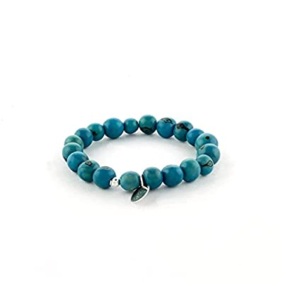 Bracelet élastiqué graines d'açai bleu du Brésil et argent 925, bracelet ethnique, minimaliste, bracelet mixte pour homme et femme, bracelet mode été, à associer pour un effet multicolore.