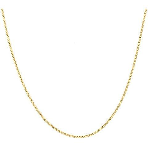 Latotsa collana catena 1,4mm di larghezza catena collana, placcata oro giallo