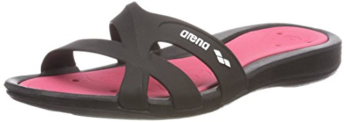Arena Athena Woman Hook, Zapatos de Playa y Piscina para Mujer, Multicolor Black/Fuchsia 509, 40 EU...