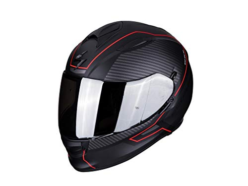 Scorpion 51-274-24-05 Motorrad Helm, Schwarz/Rot, L