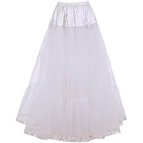 DaisyFormals Tobillo Largo Retro Enagua tul niña 50s Vintage Rockabilly Tutu falda, 100cm Longitud(FBA de color