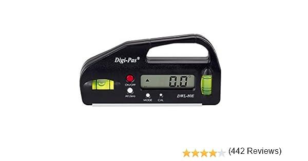 10,7cm, Risoluzione 0,05/° Digi-Pas DWL 80Pro-Livella Elettronica digitale Inclinometro,