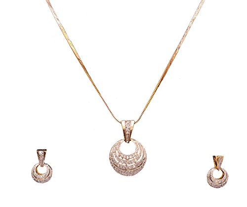 Sitashi Fashion Jewellery AD, American Diamond Zircon Pendant Set For Girls