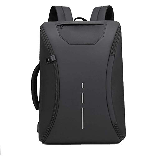 GBY Laptop-Rucksack, wasserdicht mit USB-Ladeanschluss, Business College Outdoor-Reisetasche 15,6-Zoll-Laptop-Rucksack-black