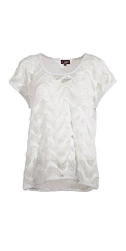 Coline - Tee shirt femme ajouré Blanc