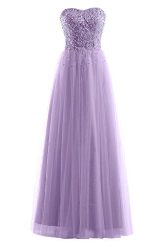 Gorgeous Bride Elegant Traegerlos A-Linie Brautkleider Abendkleider Lang Abendmode Lilac