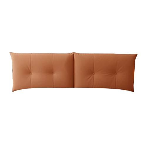 Cuscino testiera soft pack, panno letto tecnologia lavabile in tessuto, ampio schienale con testata letto / testata (arancione chiaro) home ( colore : bedside , dimensioni : 150*60cm )