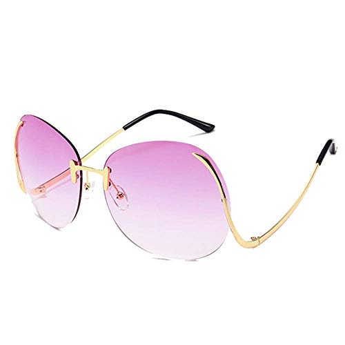 GEETAC Kai Sonnenbrille für Frauen Übergroße UV 400 Schutz Driving Party Fashion Damen Sonnenbrille,Pink