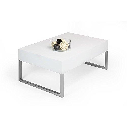 Esche Wohnzimmer Tisch (mobilifiver Evo XL Couchtisch, Holz, Esche weiß, 90x 60x 40cm)