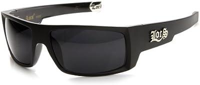 Locs Eyewear-Original Gangsta locomotoras grandes punta de metal Rectángulo gafas de sol