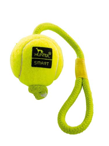 Spielzeug für Hunde, tennispalla Throw, 6mit Kordel