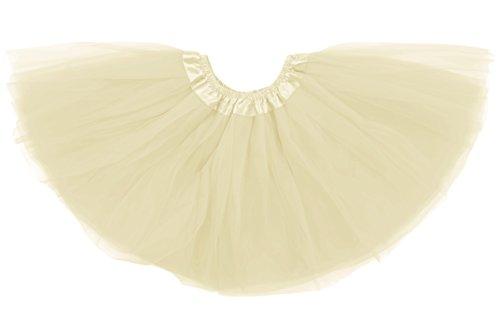 Dancina Mädchen Tüllrock Tutu Ballettrock Classic 8-13 Jahre Elfenbein (Halloween-kostüme Im Mädchen Von Alter 11 Für)
