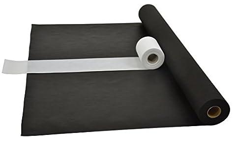 Sensalux Kombi-Set 1 Tischdeckenrolle 1,2m x 25m + Tischläufer 15cm (Farbe nach Wahl) Rolle schwarz Tischläufer