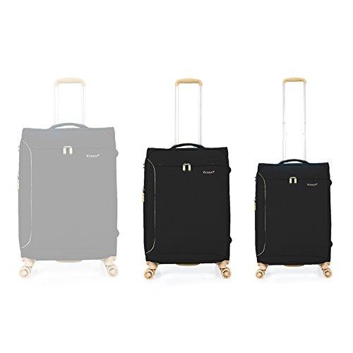 """OUBO® Verage® Aurora Spring Field Trolley Blau S-48 cm (19"""") Koffer Suitcase Handgepäckkoffer Reisekoffer Marken-Qualitätsware Spitzenverarbeitung Schwarz"""