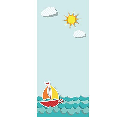 LYMTZ 3D Tür Aufkleber 80X200 Cmcartoon Nette Ozean Strand Blauer Himmel Landschaft Tapete Selbstklebende Tür Wandbild - Kinderzimmer Wanddekoration Tür Film Poster Tür Tapete Wasserdicht Aufkleber -