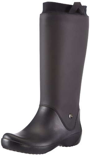 Crocs RainFloe 12424 Damen Gummistiefel, Schwarz (Black), 39/40
