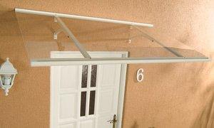 Alu-Pultvordach Haustürvordach Vordach Klassik weiß 160 x 85 x 38 cm