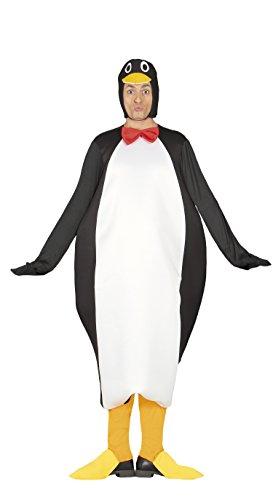 Pinguin Kostüm für Erwachsene Tierkostüm Damenkostüm Schwarz weiß Gr. M - L, Größe:L