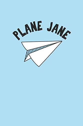 Plane Jane: Funny Paper Folded Airplane Visual Pun Journal
