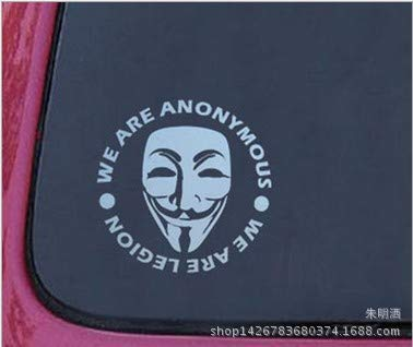 Autoaufkleber Aufkleber Fensteraufkleber AnonymousMaskSexyMan ist seltsam Smiley-Kopf gelb