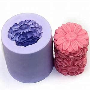 Matin Silicon Soap, Chocolate and Candy Moulds,Sunflower Soap and Candle Shape, Reusable
