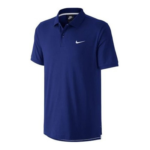 Nike Herren Matchup Jersey Polo-Shirt, Tiefes Königsblau/Weiß, M (Jersey-weiß Polo-shirt)