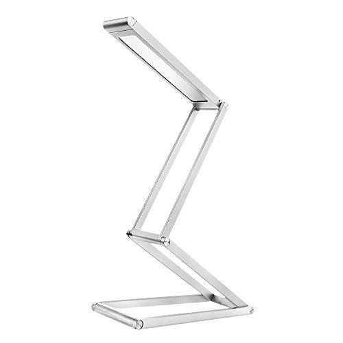 oobest Lampe de Bureau Pliable Portable LED Rechargeable sans fil Touche Contrôle Tactile Lumière de Nuit Eclairage Lecture