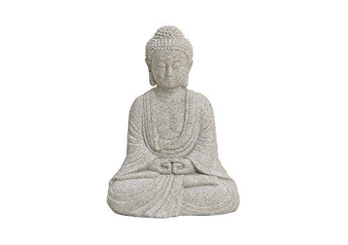 Buddha-Figur sitzend, 13cm in Grau