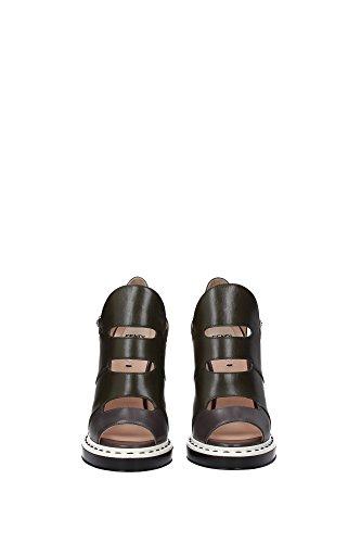 8K5270TTYF01BU Fendi Sandale Femme Cuir Vert Vert