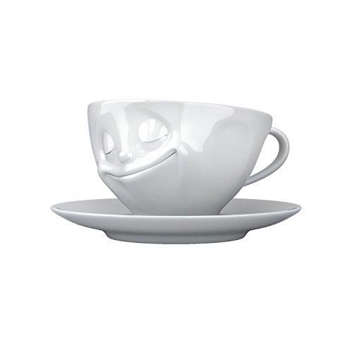 FIFTYEIGHT PRODUCTS FiftyEight T014301 Kaffee-Tasse glücklich Hartporzellan 200 ml, weiß