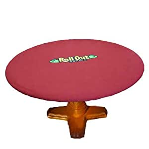 Brybelly Holdings PTA-4019 Rollout Gaming Red-Green Neoprene Playing Surface - Round by Brybelly Holdings