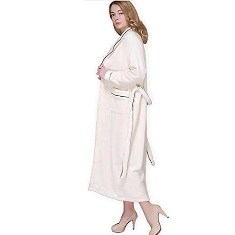 DMMSS Coral Fleece peignoir flanelle robe longue plus épais chaud pyjama Couple chemise de nuit , 2 , l