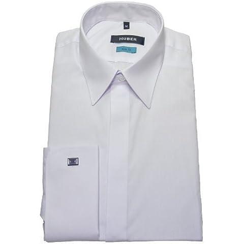 HUBER 0361 Polsini Camicia bianca Sera camicia stiro-facile S fino a XXL Vestibilità Slim