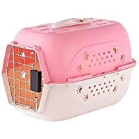 Pet Believe Portable Pet Carrier Travel Kennel Cage Crate Carrier Box for Cat and Puppy (Pink). 18 Inch