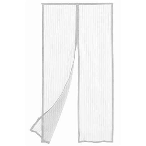 Zanzariera bianca magnetica 120x240h con velcro adesivo per balconi antizanzare