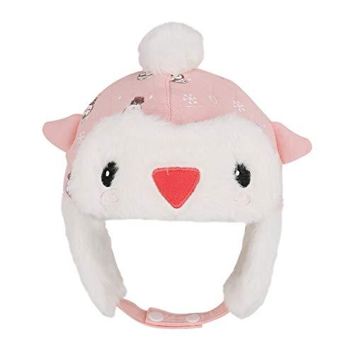 Baby Fliegermütze Neugeborene Säugling Mütze Wintermütze Mädchen Jungen Pilotenmütze Warm Cartonn Earflap Hut mit Bindebändern 0-6 Monate