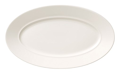 Villeroy & Boch 25 cm Premium Bone Porzellan La Classica Contura Sauciere Untertasse/Beilageschale. Weiß Nuova Sauciere/Beilagenschale weiß